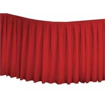 Table Skirting Polyester 4.3m - Red