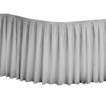 Table Skirting Polyester 4.3m - Silver
