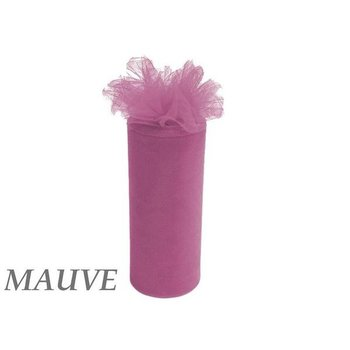 6inch x 25yd Tulle Roll - mauve