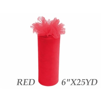 6inch x 25yd Tulle Roll - Red