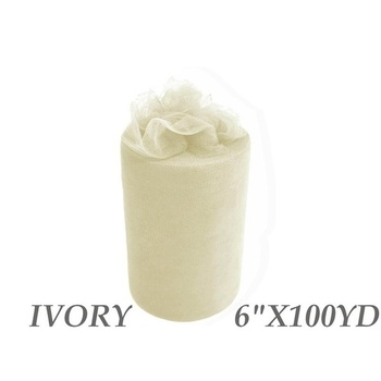 6inch x 100yd Tulle Roll - Dark Ivory  CLEARANCE