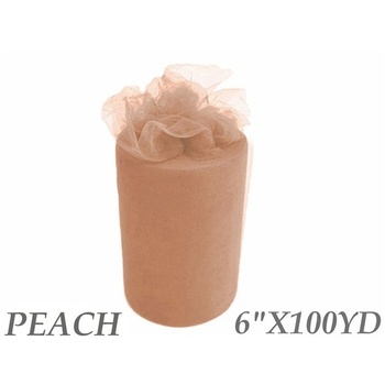 6inch x 100yd Tulle Roll - Peach  CLEARANCE