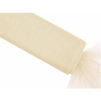 54inch x 40yd Tulle Bolt - Light Ivory