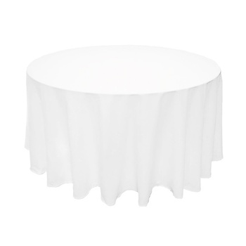 275cm (108Inch) Poly Round Tablecloth - White