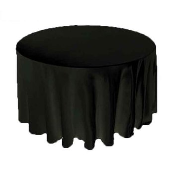 120inch (305cm) Satin Tablecloth - Black