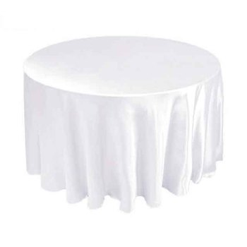 120inch (305cm) Satin Table Cloth - White