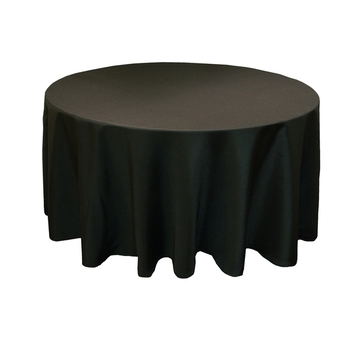 305cm (120inch) Poly Round Tablecloth - Black
