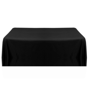137x243cm (54x96inch) Poly Tablecloth -  Black