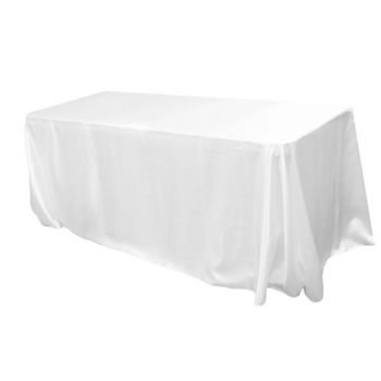 90x120inch (230x305cm) Satin Tablecloth - White
