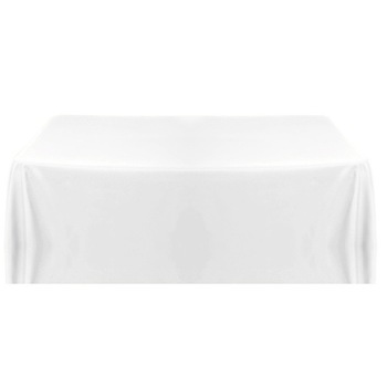 90x132inch (220x335cm) Tablecloth - White