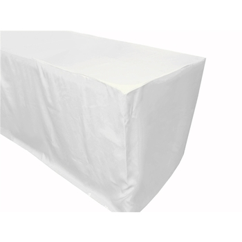 8Ft (2.4m)  Fitted Tablecloths - White