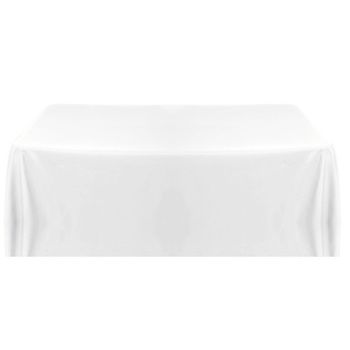 152x320cm 250gsm Poly Tablecloth - White