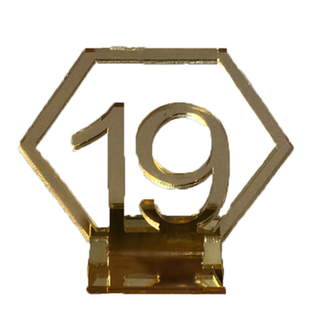 Gold Mirror Hexagonal Table Numbers 1-20