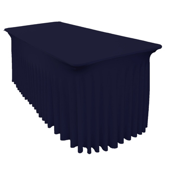 6Ft (1.8m) Navy SEMI Fitted Lycra/Spandex Tablecloth Cover