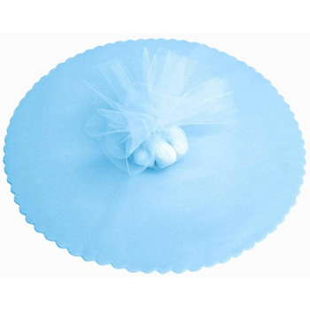 9inch Tulle Circle - Baby Blue - 25pk