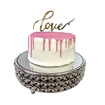 Gold - LOVE Acrylic Cake Topper