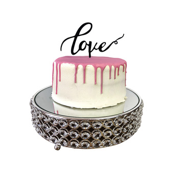 Black - LOVE Acrylic Cake Topper