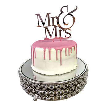 Rose Gold - Mr & Mrs Acrylic Cake Topper