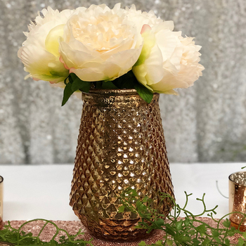 Candle Vase 10x21cm - Gold Mercury Finish