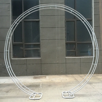 2.3m Circle Arch White - Heavy Duty Decorative Wedding Arch Frame Set