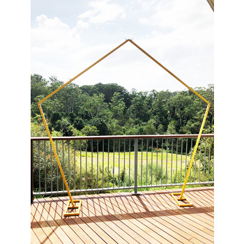 2.4m Pentagon Wedding Arch - Gold