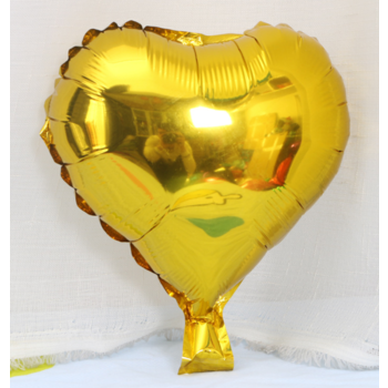 25cm Gold Foil Heart Balloon