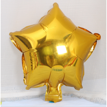 25cm Gold Foil Star Balloon