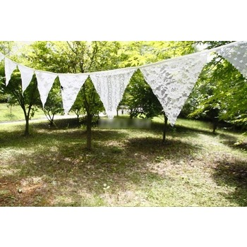 White Lace Bunting Banner - 3m