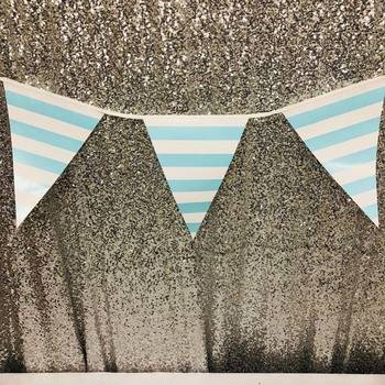 3.5m Large Party Bunting/Banner Flag - Blue Stripe
