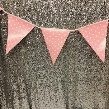 3.5m Large Party Bunting/Banner Flag - Pink Dot