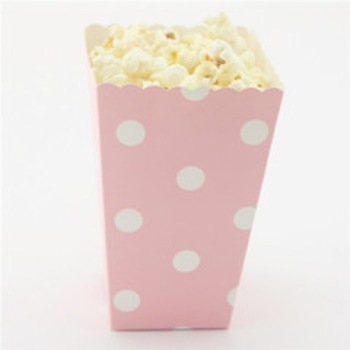 Pink Dot Mini Popcorn or Lolly Box