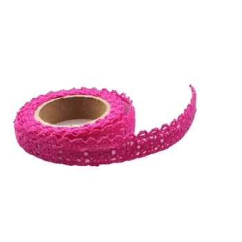 15mm Fushia Crochet Tape - 1.8m