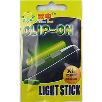 100/pk Fishing Rod Glow sticks - Clip on Fluorescent light 100/pk