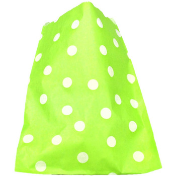 24Pk Green Polko Dot Lolly Bags