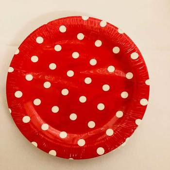 12pk - 18cm Party Plate Red Dot