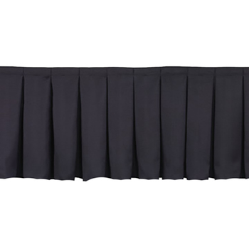 30cm x 6.4m High Black Stage Skirting Polyester