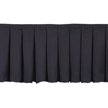 40cm x 6.4m High Black Stage Skirting Polyester