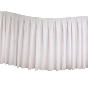 Table Skirting Polyester 4.3m - White
