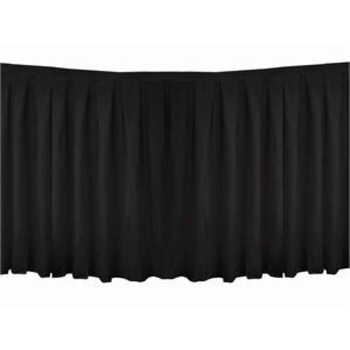 Table Skirting Polyester 8.9m - Black