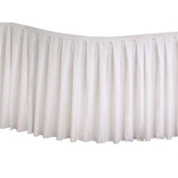 Table Skirting Polyester 8.9m - White