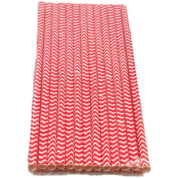 24Pk Red ZigZag Straw