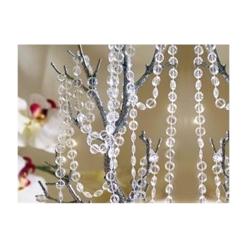 30m Clear Acrylic Beaded String Garland