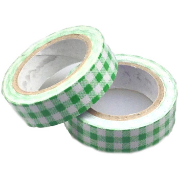 Green Large Checked Washi Tape - 10m