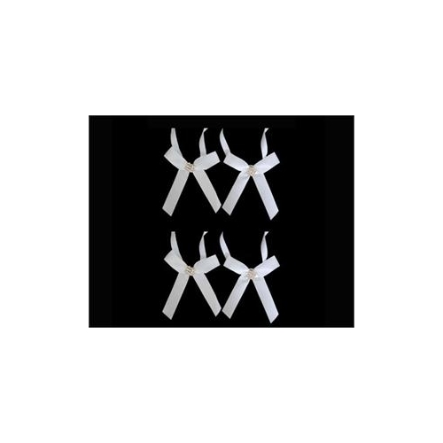 Bows/Bands - Diamond Buckle Ivory 4pk